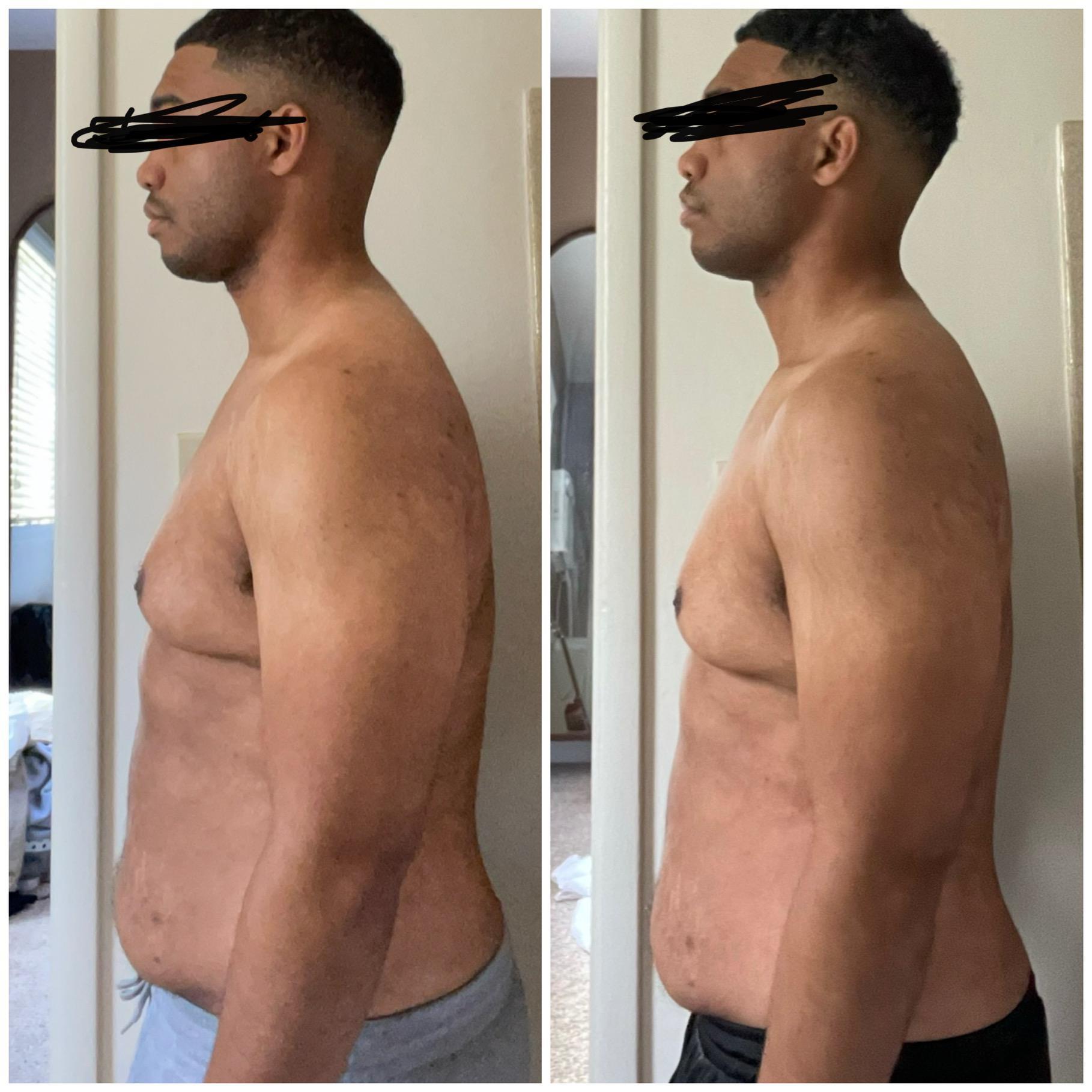 5 foot 7 Male Progress Pics of 6 lbs Fat Loss 192 lbs to 186 lbs