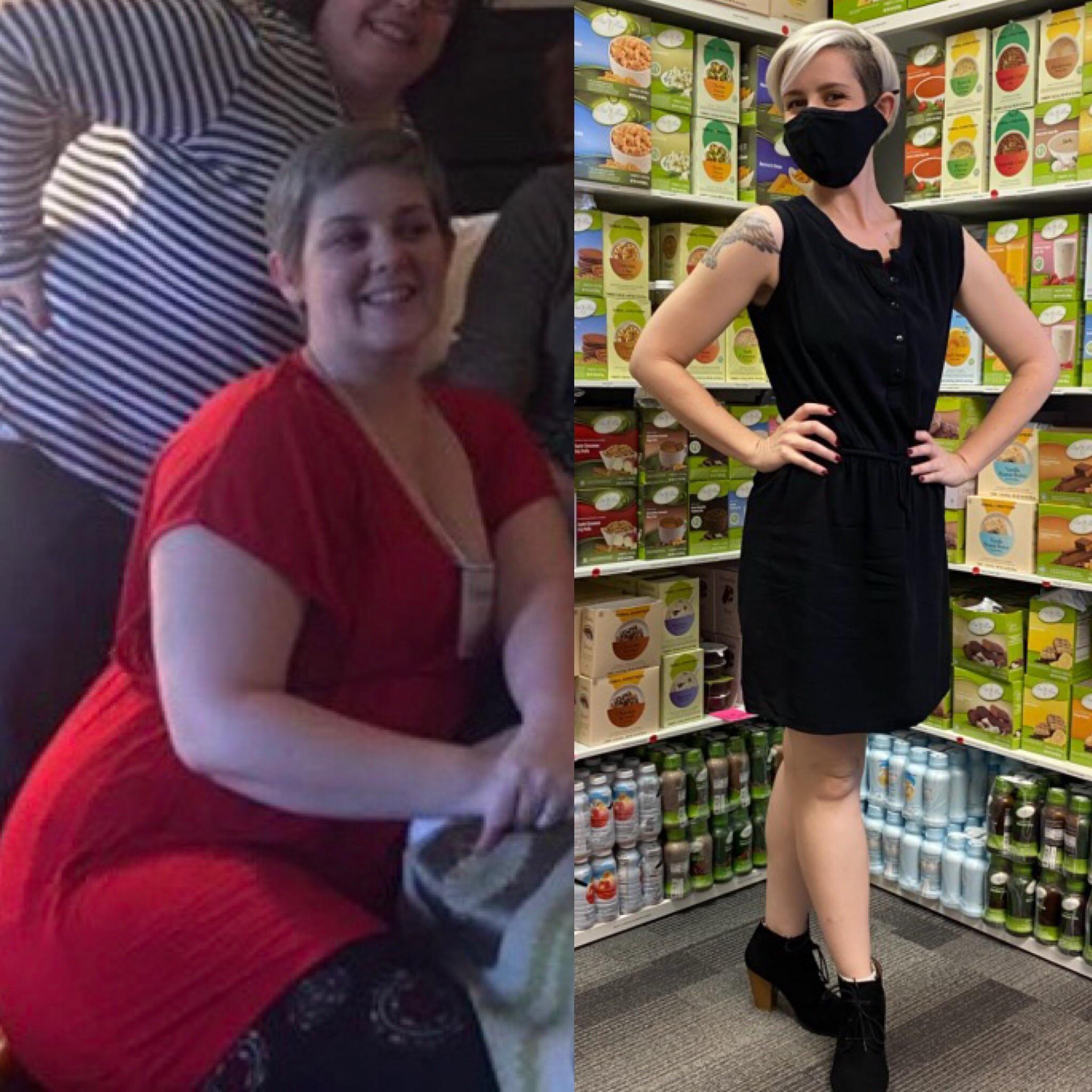 96 lbs Fat Loss 5'6 Female 232 lbs to 136 lbs