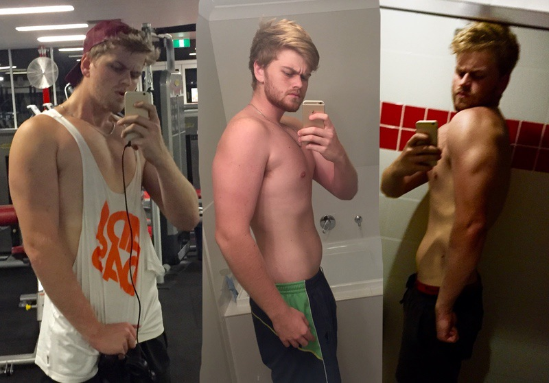 Before and After 85 lbs Weight Loss 6'8 Male 305 lbs to 220 lbs
