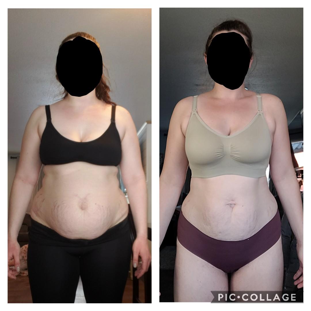 Progress Pics of 24 lbs Weight Loss 5 feet 11 Female 232 lbs to 208 lbs