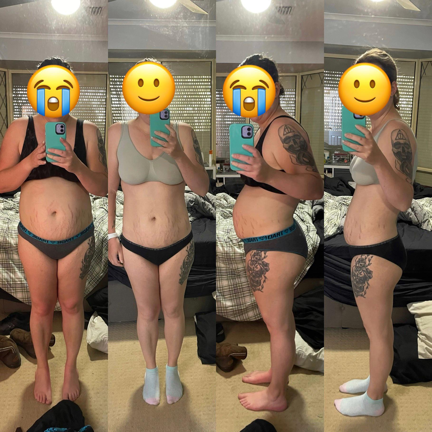 5'5 Female Progress Pics of 29 lbs Weight Loss 186 lbs to 157 lbs