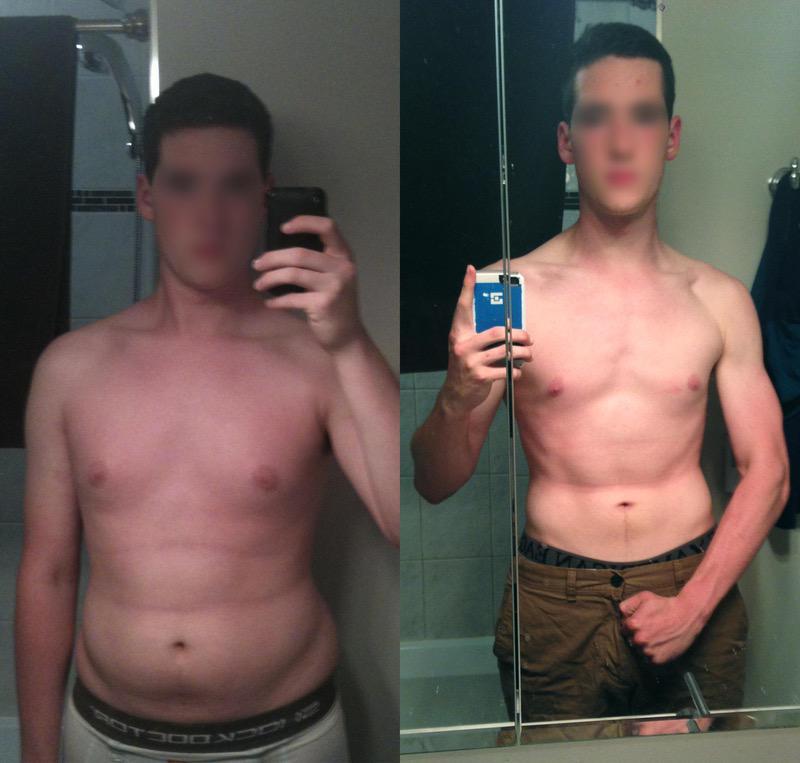 Progress Pics of 50 lbs Fat Loss 6 feet 3 Male 225 lbs to 175 lbs