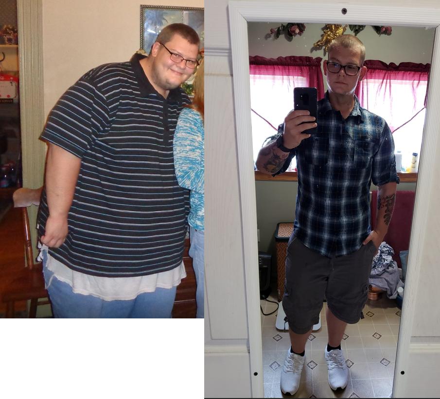 230 lbs Weight Loss 6 feet 1 Male 460 lbs to 230 lbs
