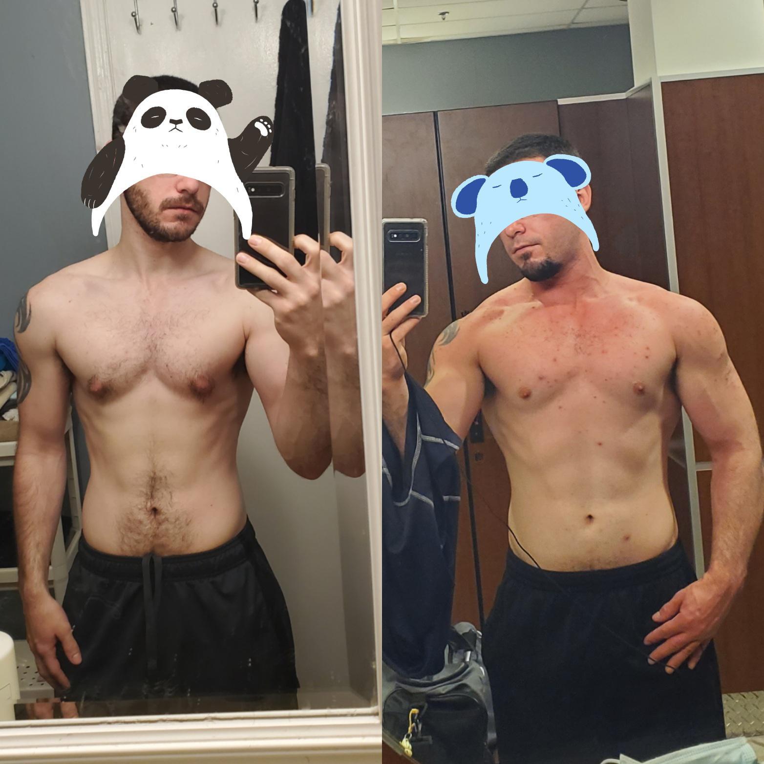 5 foot 9 Male 34 lbs Muscle Gain 138 lbs to 172 lbs