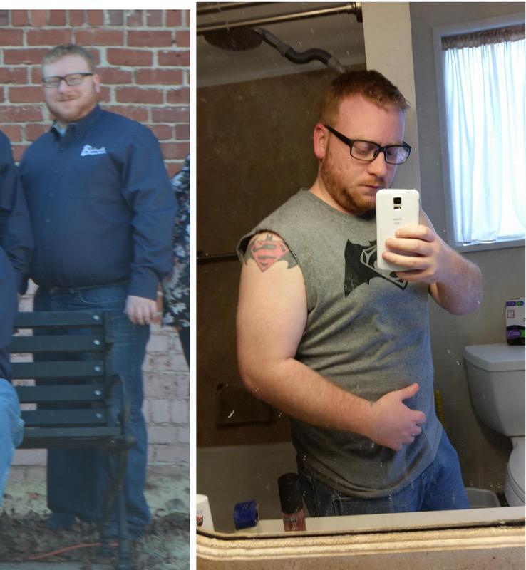5 foot 6 Male Progress Pics of 35 lbs Fat Loss 240 lbs to 205 lbs