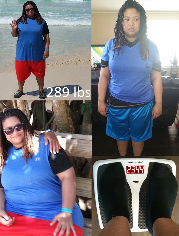 55 lbs Weight Loss 5 foot 5 Female 289 lbs to 234 lbs