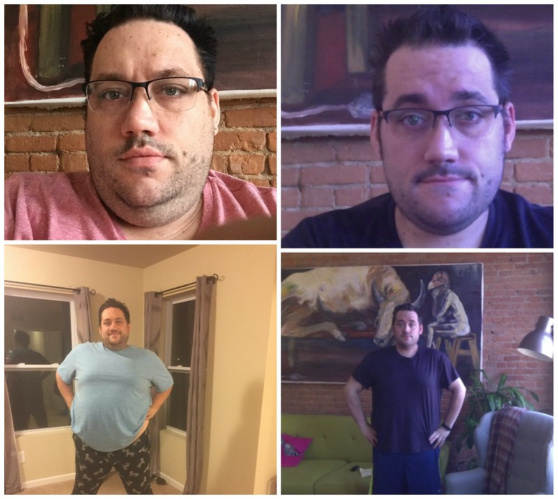 Progress Pics of 80 lbs Fat Loss 5 foot 11 Male 380 lbs to 300 lbs