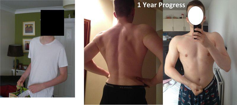 6 foot 4 Male Progress Pics of 57 lbs Weight Gain 143 lbs to 200 lbs