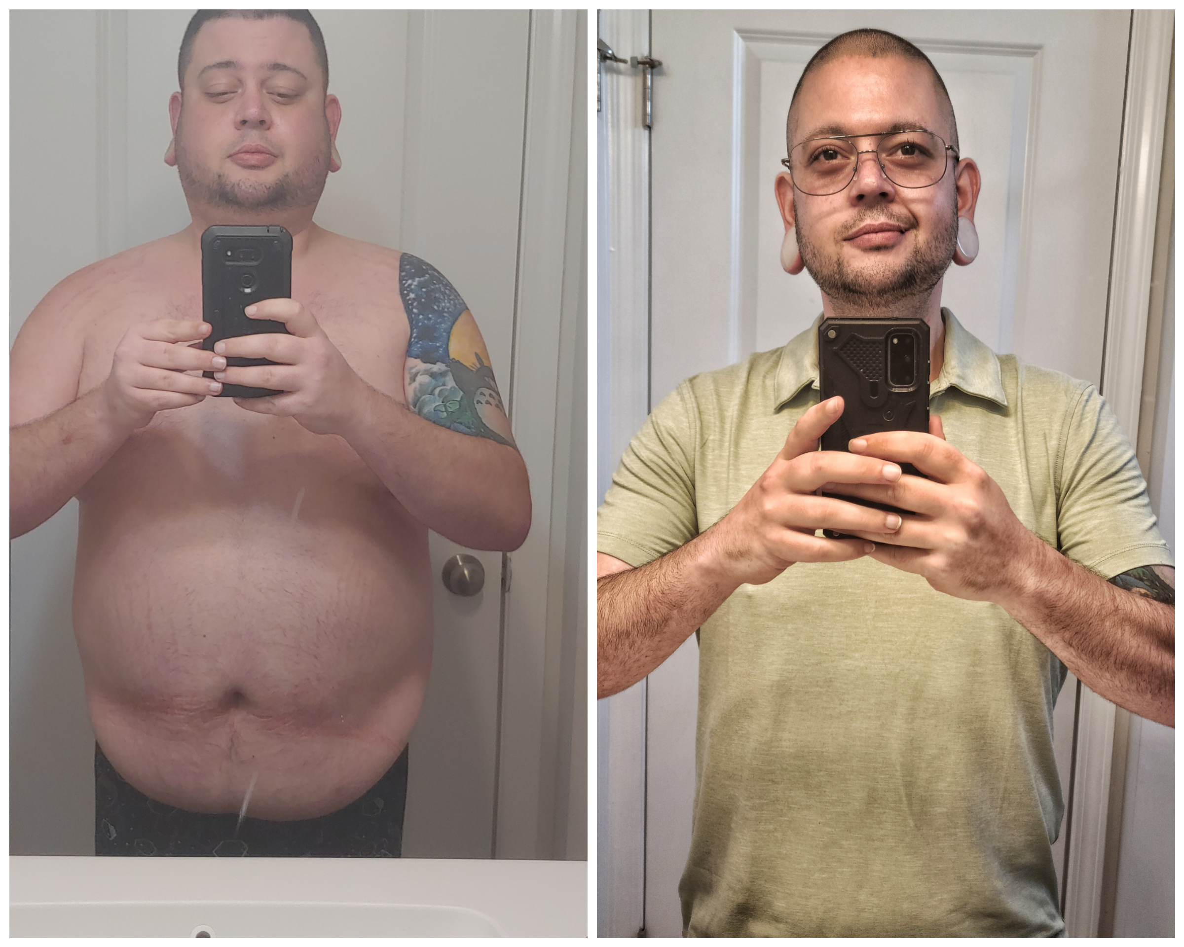 5 feet 7 Male 91 lbs Weight Loss Before and After 260 lbs to 169 lbs