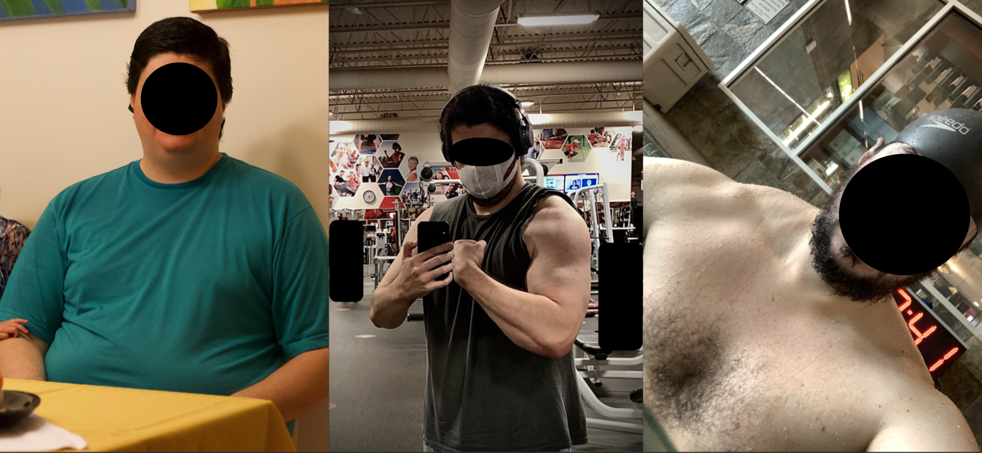 Before and After 110 lbs Fat Loss 6 foot 3 Male 325 lbs to 215 lbs