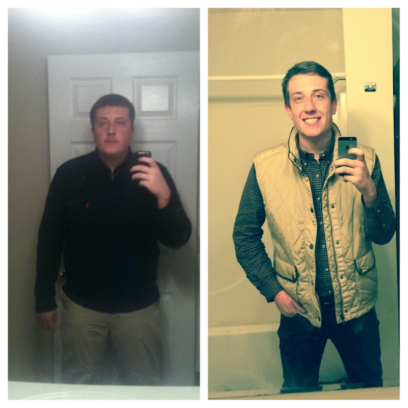 Before and After 114 lbs Fat Loss 6 foot Male 295 lbs to 181 lbs