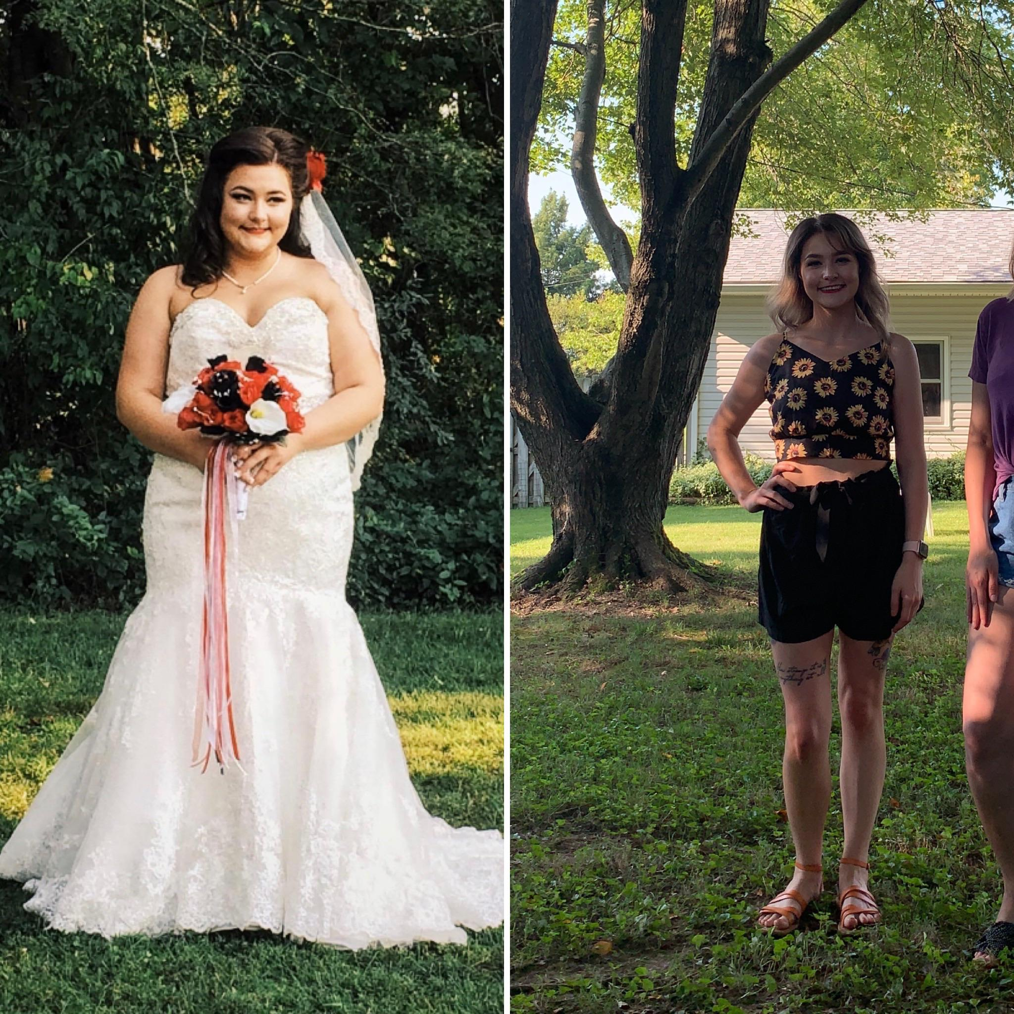 5 feet 5 Female 85 lbs Weight Loss Before and After 210 lbs to 125 lbs