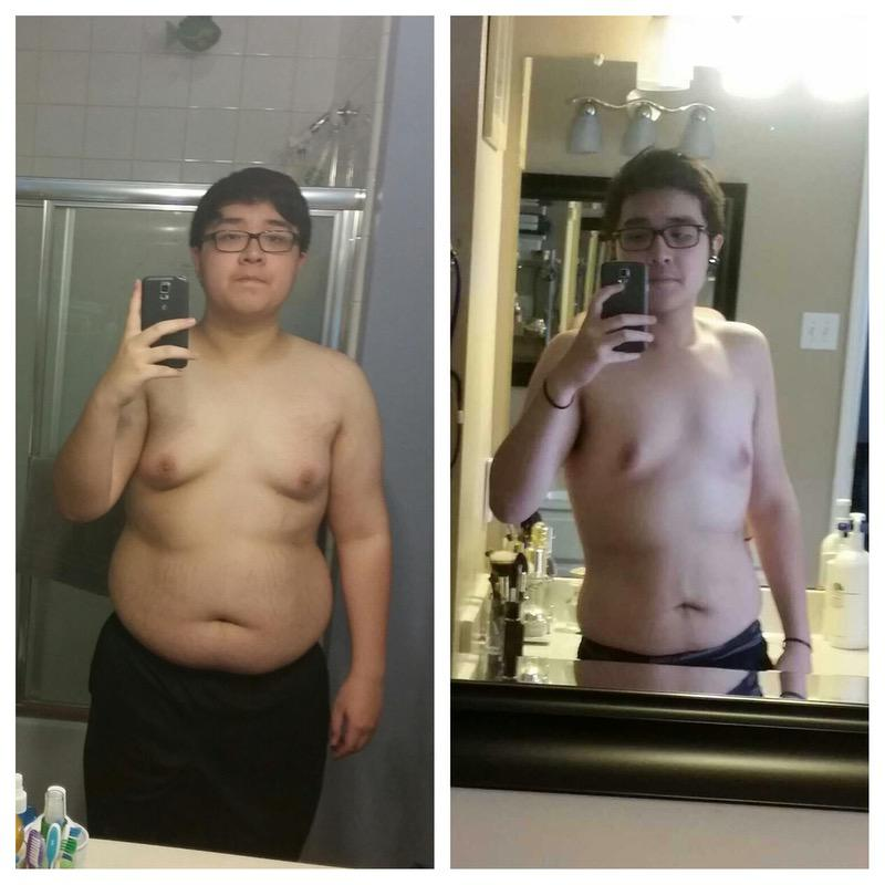 Before and After 77 lbs Fat Loss 5 feet 9 Male 243 lbs to 166 lbs