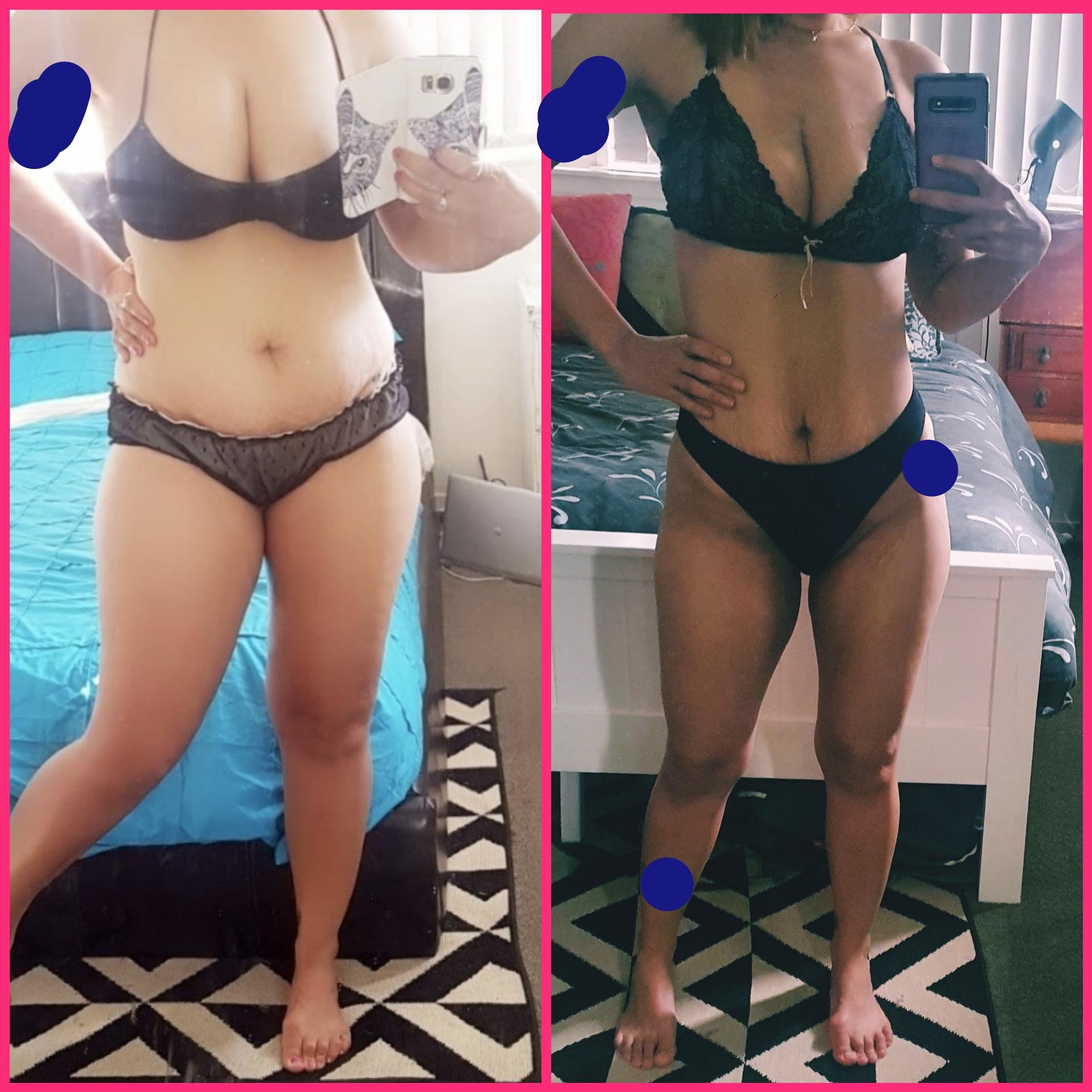 75 lbs Weight Loss 5'5 Female 200 lbs to 125 lbs