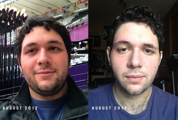 70 lbs Weight Loss Before and After 6 foot 3 Male 300 lbs to 230 lbs