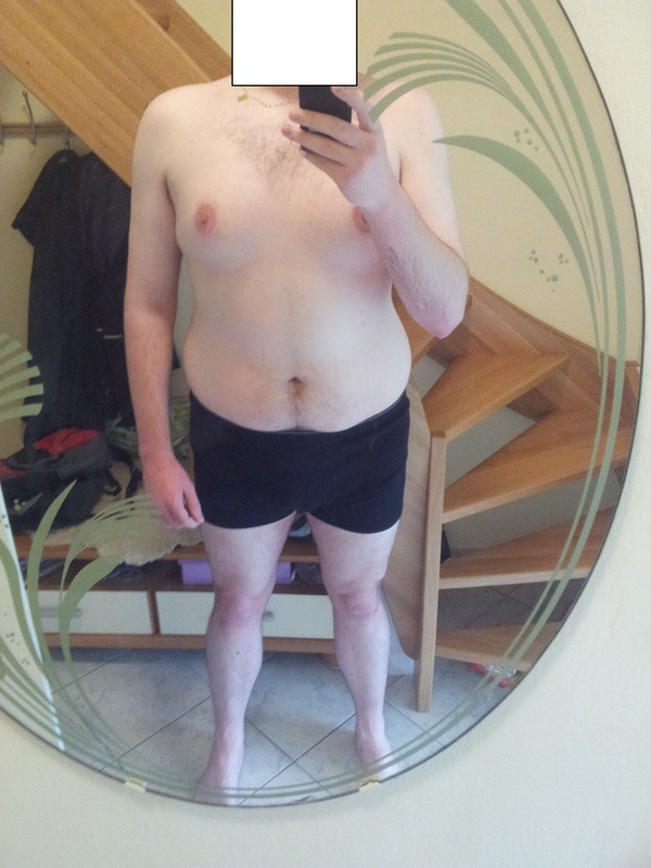 69 lbs Fat Loss Before and After 6'8 Male 304 lbs to 235 lbs