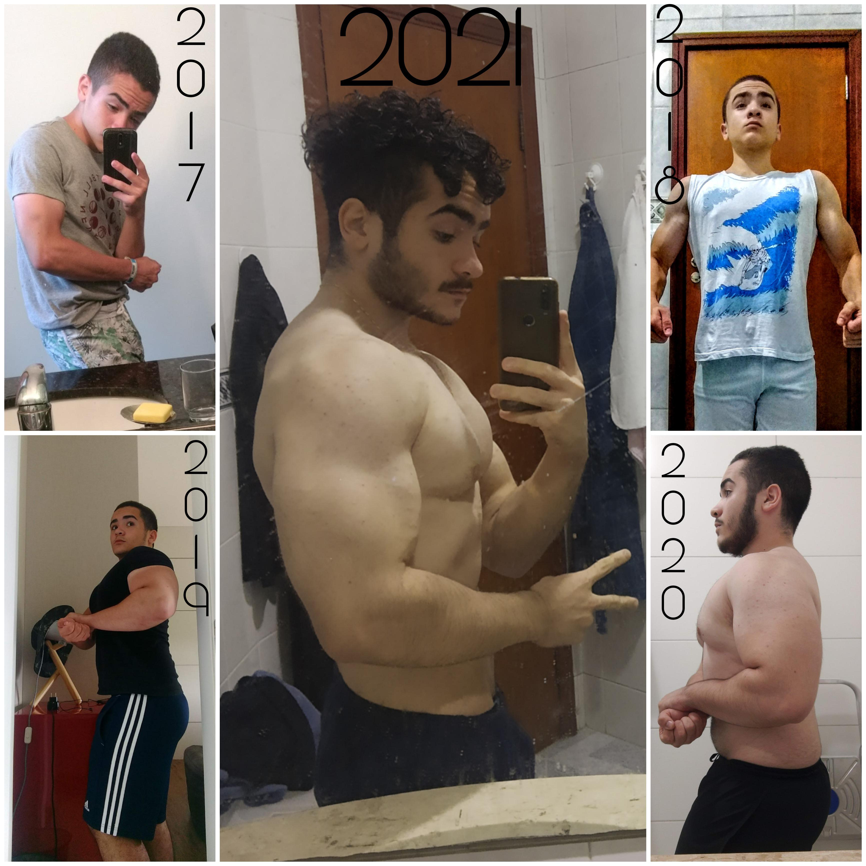 30 lbs Muscle Gain Before and After 5'5 Male 125 lbs to 155 lbs