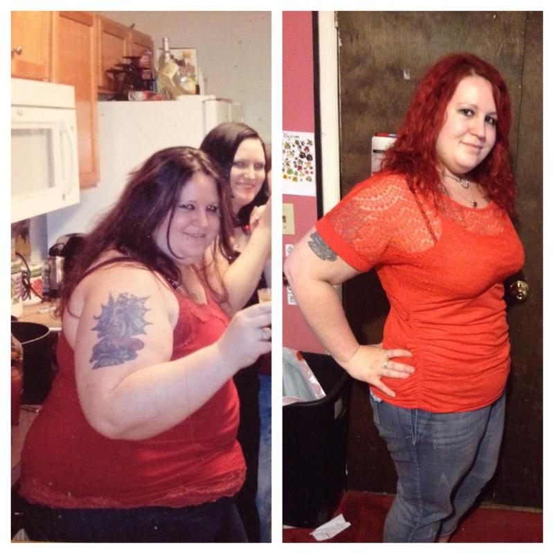 Before and After 120 lbs Fat Loss 5'8 Female 356 lbs to 236 lbs