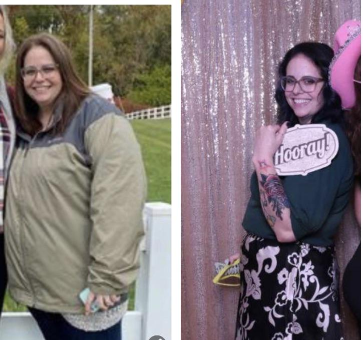 Before and After 74 lbs Fat Loss 5'4 Female 255 lbs to 181 lbs