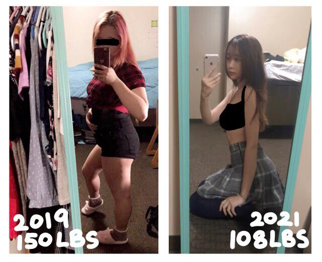 5 foot 3 Female Before and After 42 lbs Fat Loss 150 lbs to 108 lbs