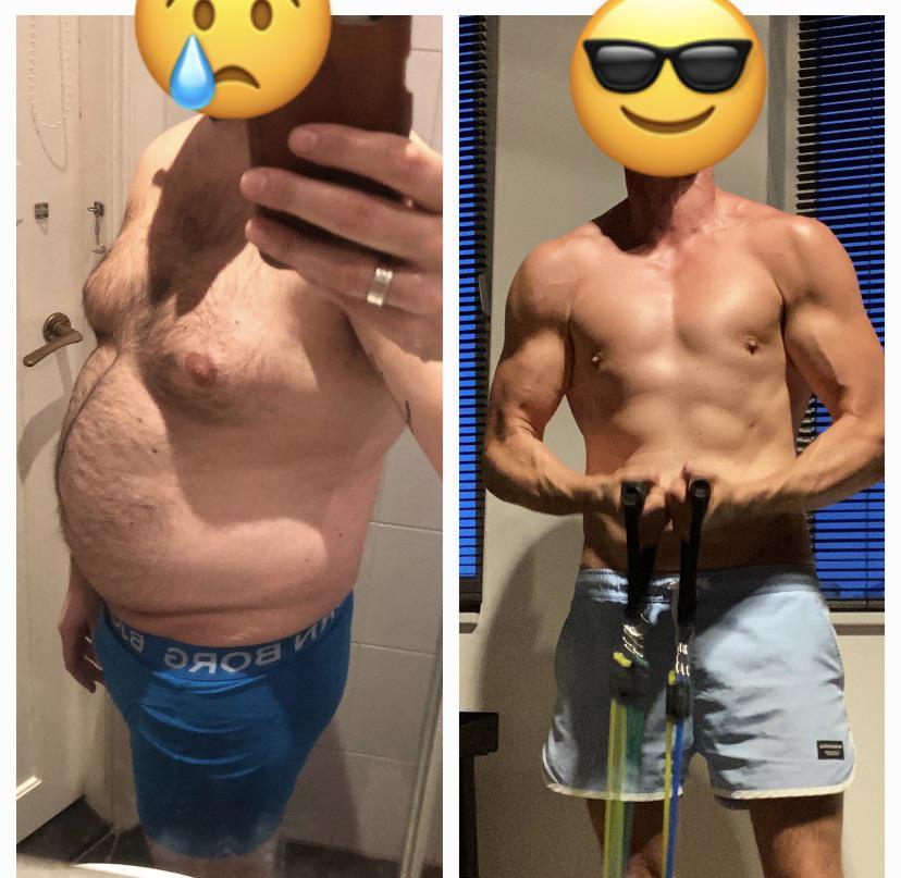 93 lbs Fat Loss 5'10 Male 240 lbs to 147 lbs