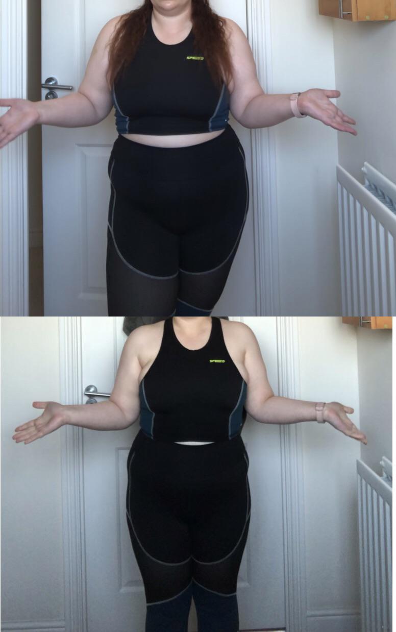 5 foot 3 Female Progress Pics of 32 lbs Fat Loss 217 lbs to 185 lbs