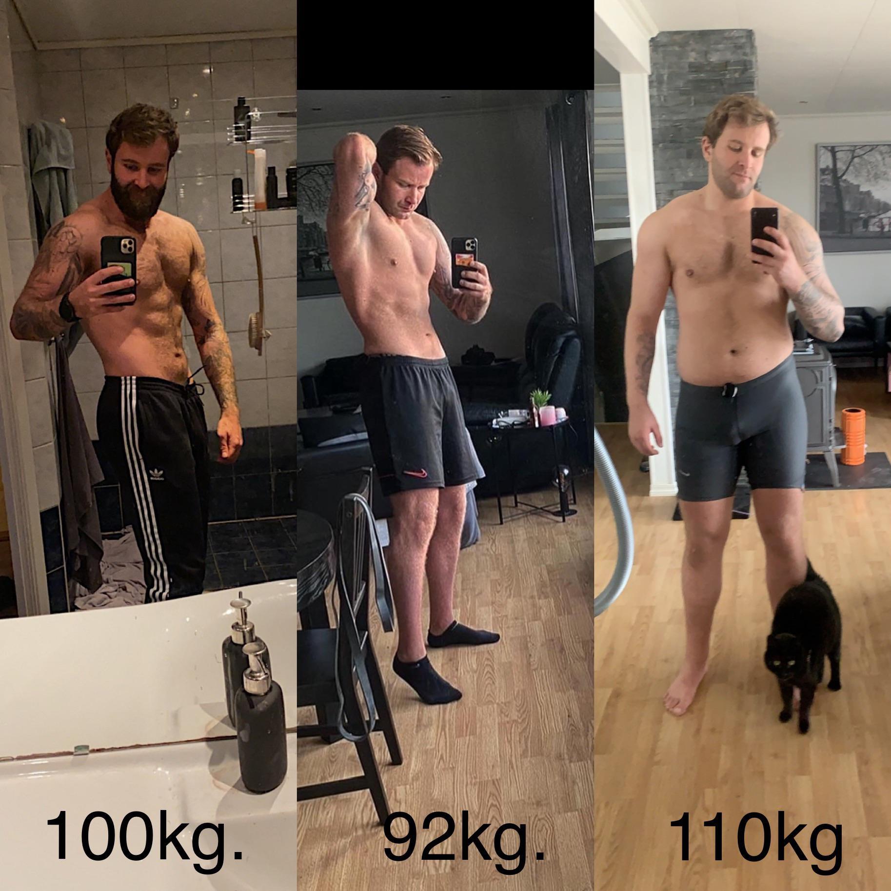 6'2 Male Progress Pics of 18 lbs Fat Loss 243 lbs to 225 lbs