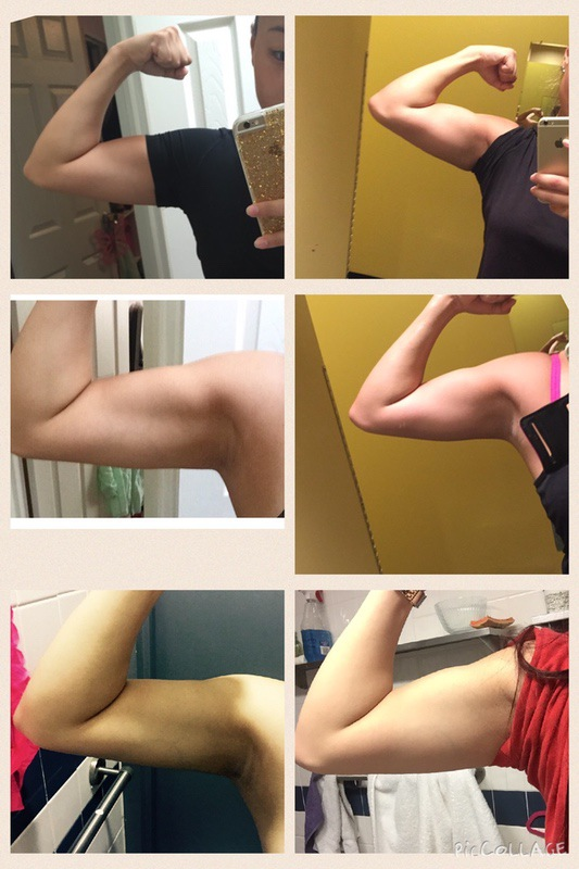 Before and After 24 lbs Fat Loss 5'3 Female 157 lbs to 133 lbs