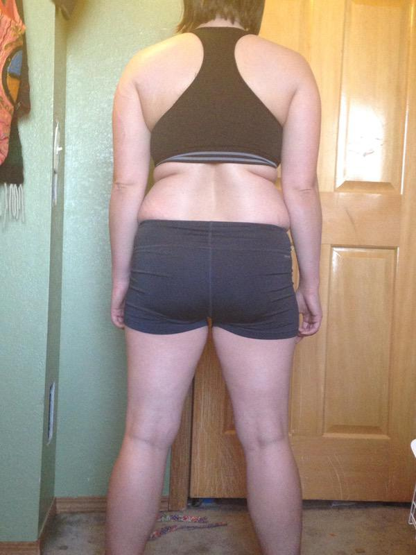 3 Photos of a 5'2 148 lbs Female Weight Snapshot