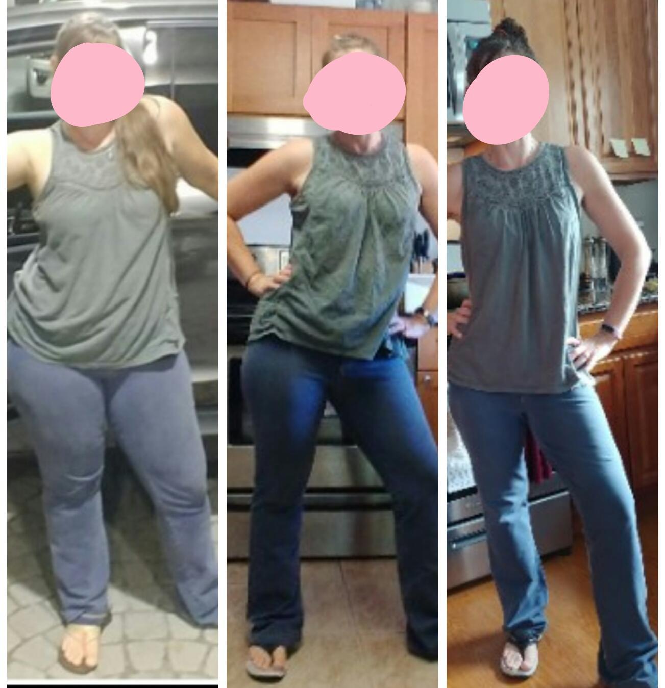 5 foot 4 Female Progress Pics of 55 lbs Fat Loss 185 lbs to 130 lbs