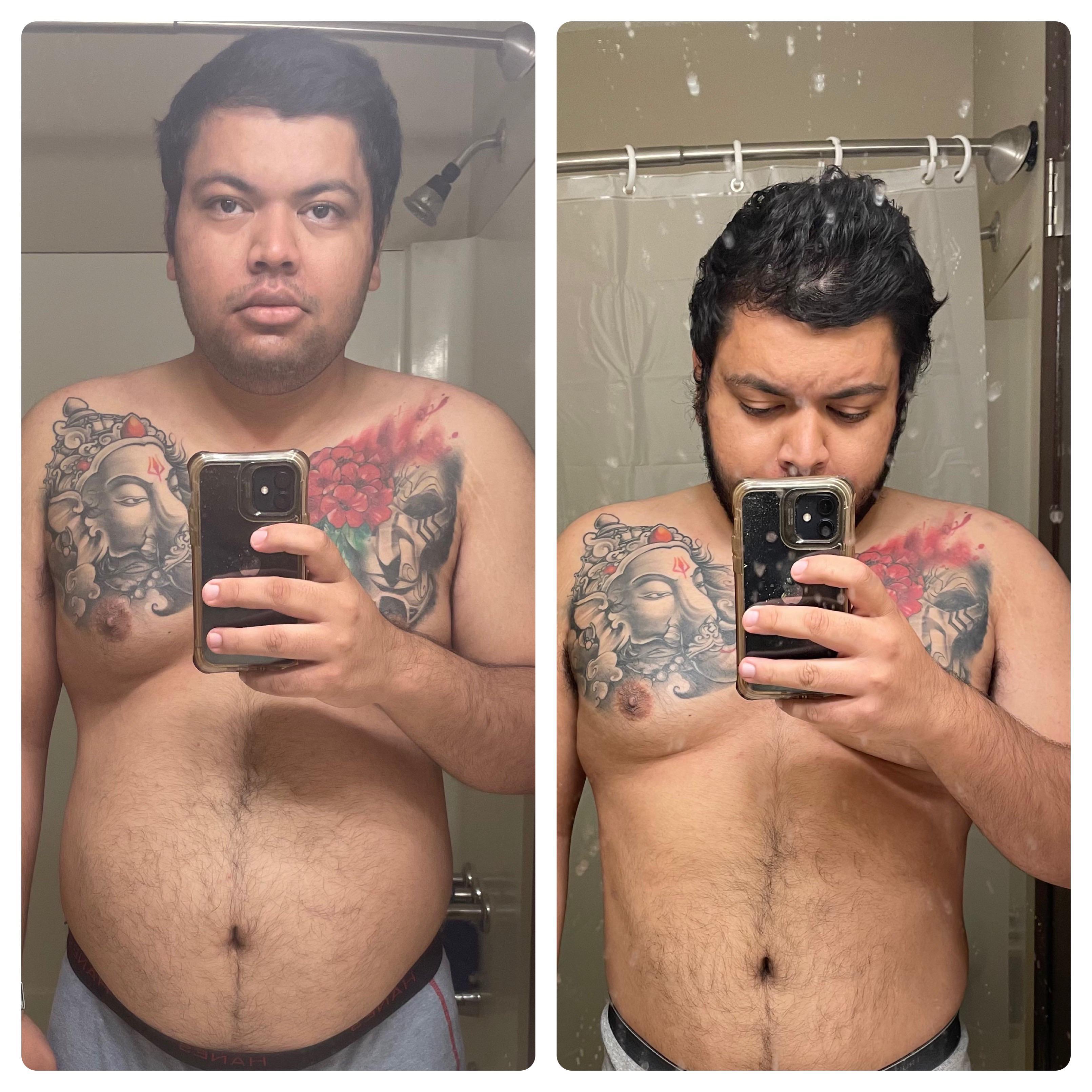 5 feet 8 Male 20 lbs Weight Loss 226 lbs to 206 lbs