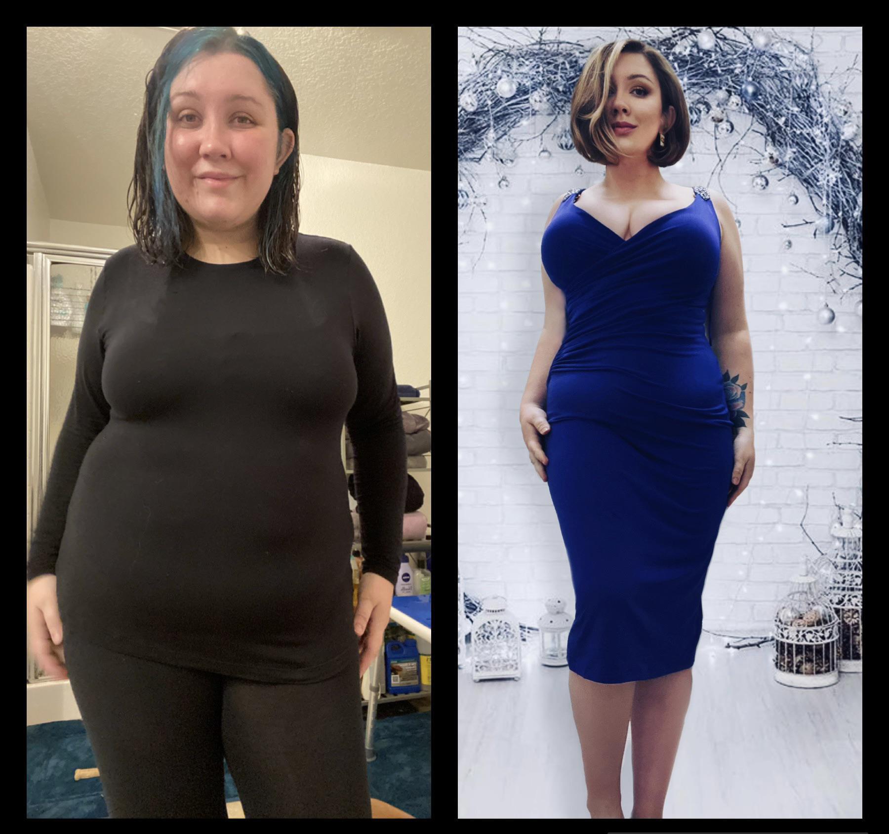 5 foot 3 Female 50 lbs Fat Loss 235 lbs to 185 lbs