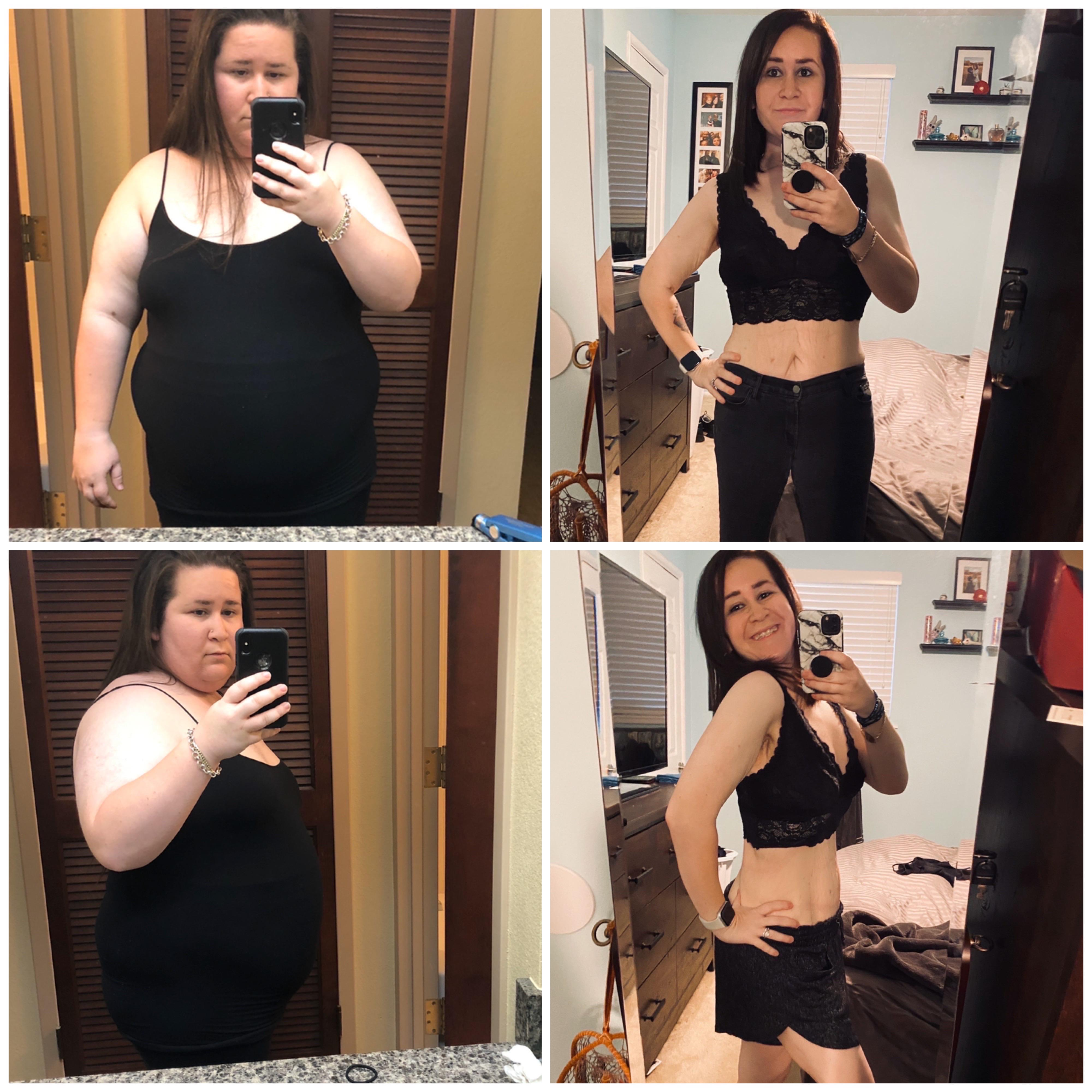5 feet 2 Female 128 lbs Fat Loss 256 lbs to 128 lbs