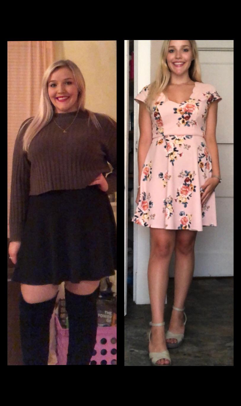 5 feet 4 Female 60 lbs Fat Loss Before and After 210 lbs to 150 lbs