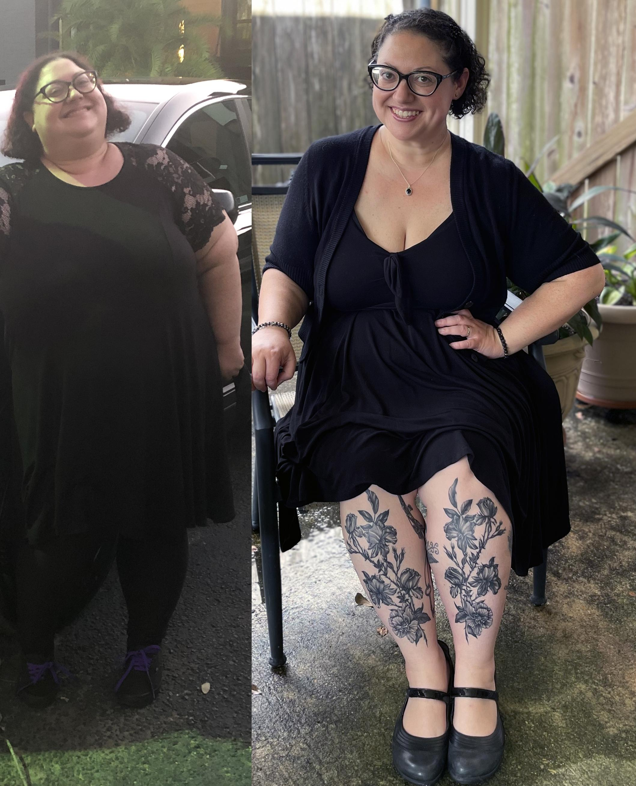 5 feet 3 Female Before and After 138 lbs Weight Loss 342 lbs to 204 lbs