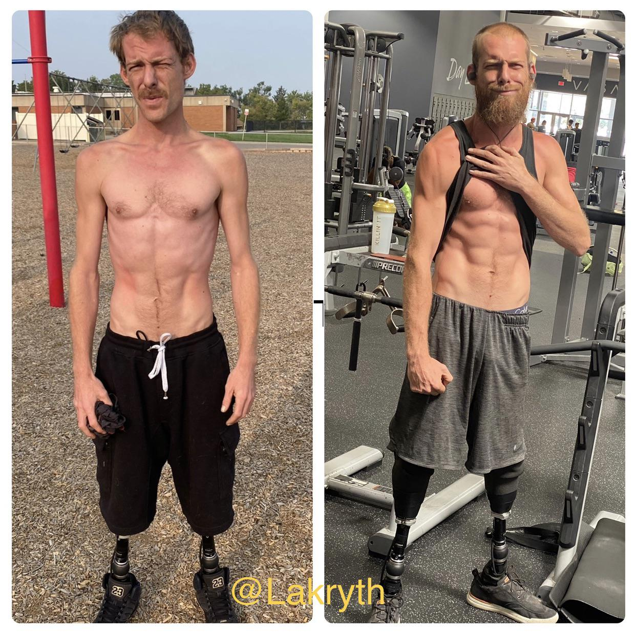 6 feet 2 Male 40 lbs Weight Gain 100 lbs to 140 lbs