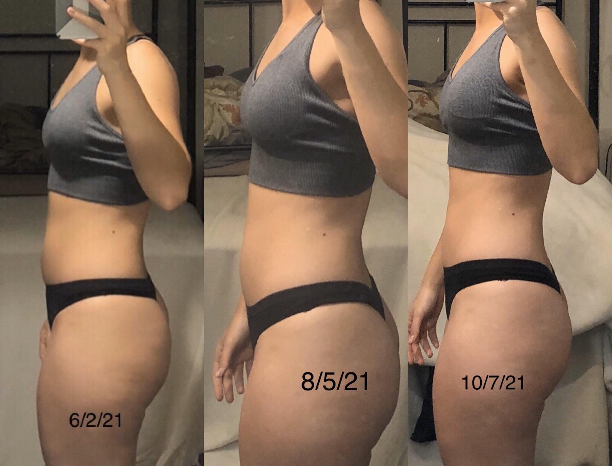 5'6 Female Progress Pics of 4 lbs Fat Loss 134 lbs to 130 lbs
