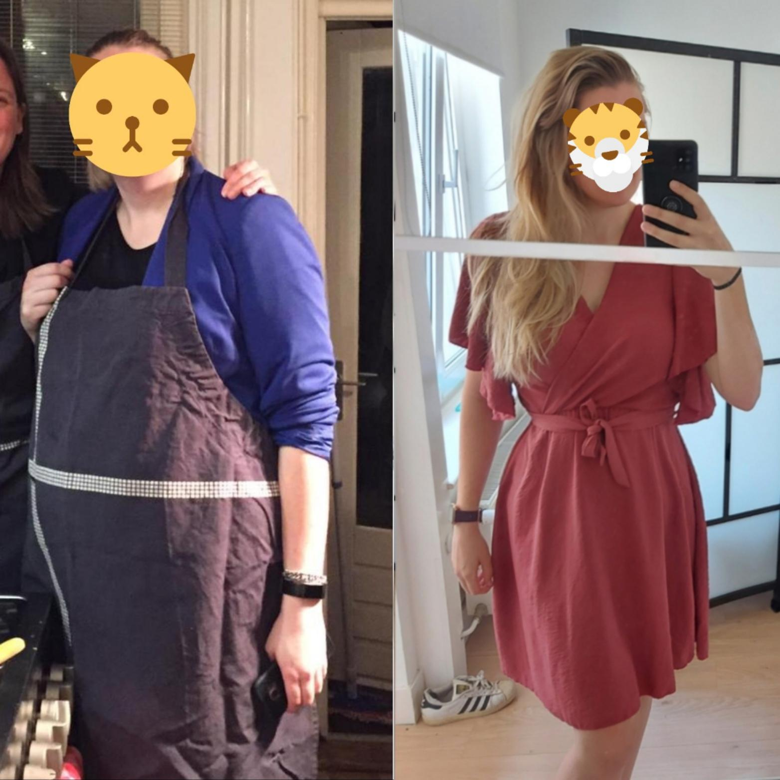 110 lbs Fat Loss Before and After 5 foot 7 Female 265 lbs to 155 lbs