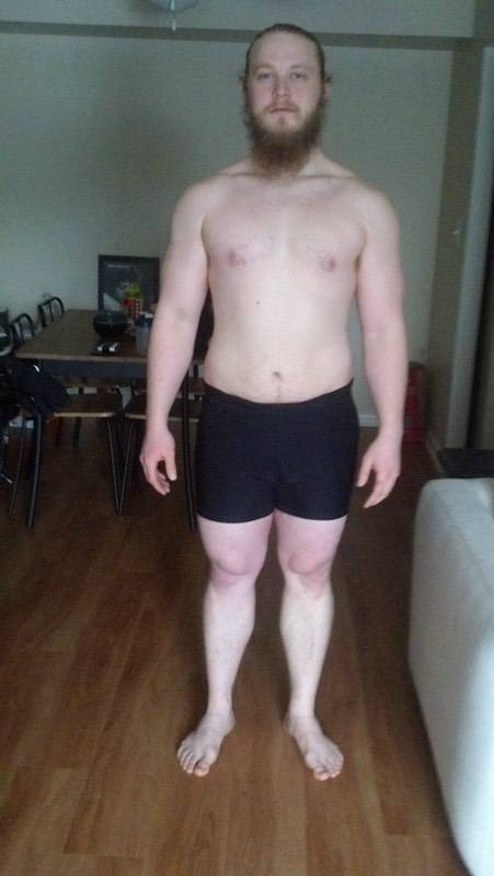 4 Pics of a 214 lbs 5 foot 9 Male Weight Snapshot