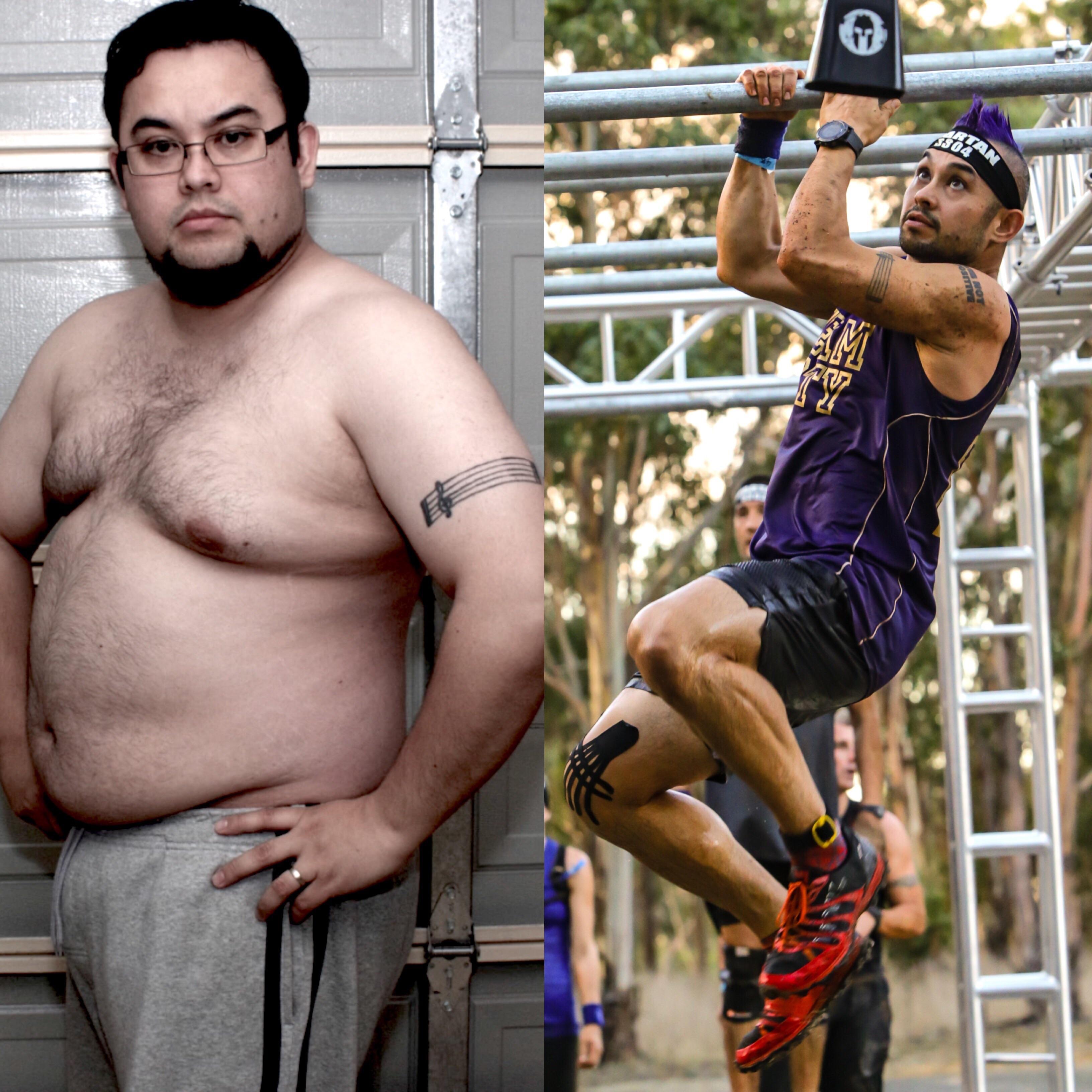 5'7 Male Progress Pics of 110 lbs Fat Loss 262 lbs to 152 lbs