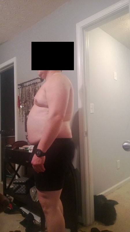 4 Photos of a 5 foot 8 248 lbs Male Weight Snapshot