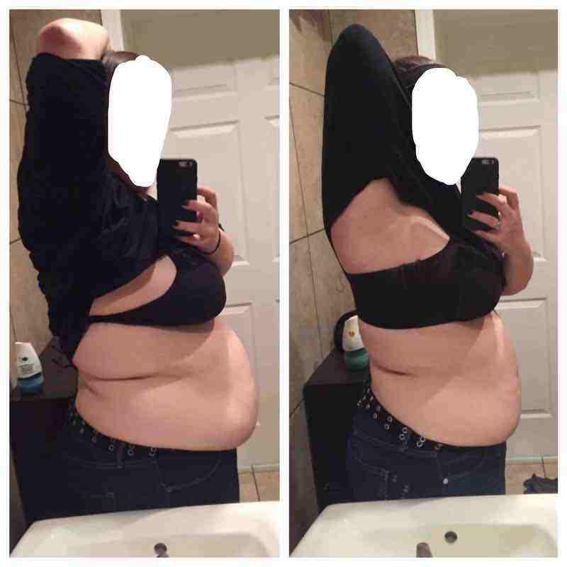 5 feet 7 Female Progress Pics of 31 lbs Weight Loss 275 lbs to 244 lbs