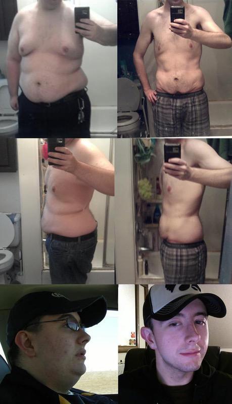 135 lbs Fat Loss 5 feet 7 Male 280 lbs to 145 lbs