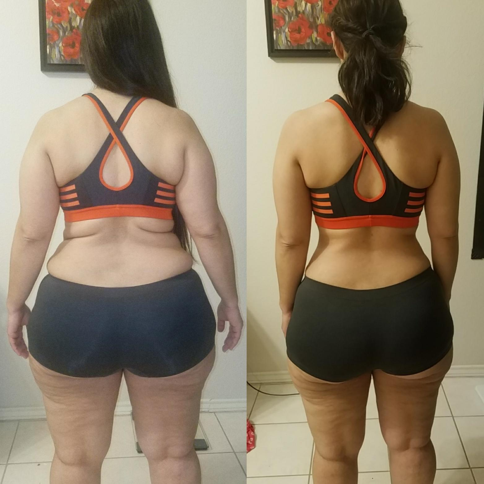 5 foot 1 Female 30 lbs Weight Loss Before and After 180 lbs to 150 lbs