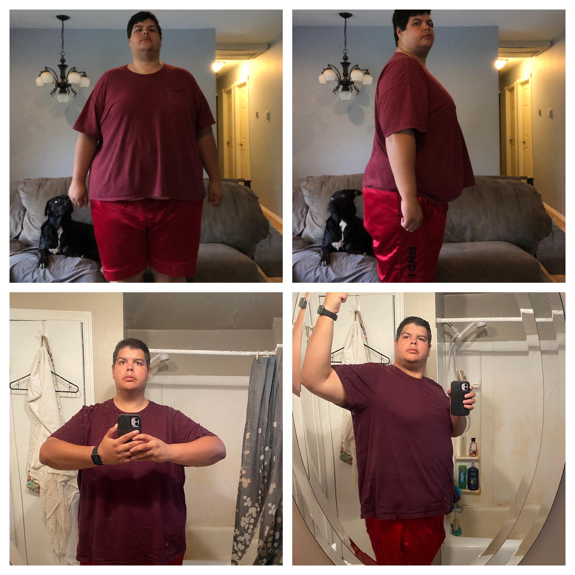 74 lbs Fat Loss 6 foot Male 423 lbs to 349 lbs