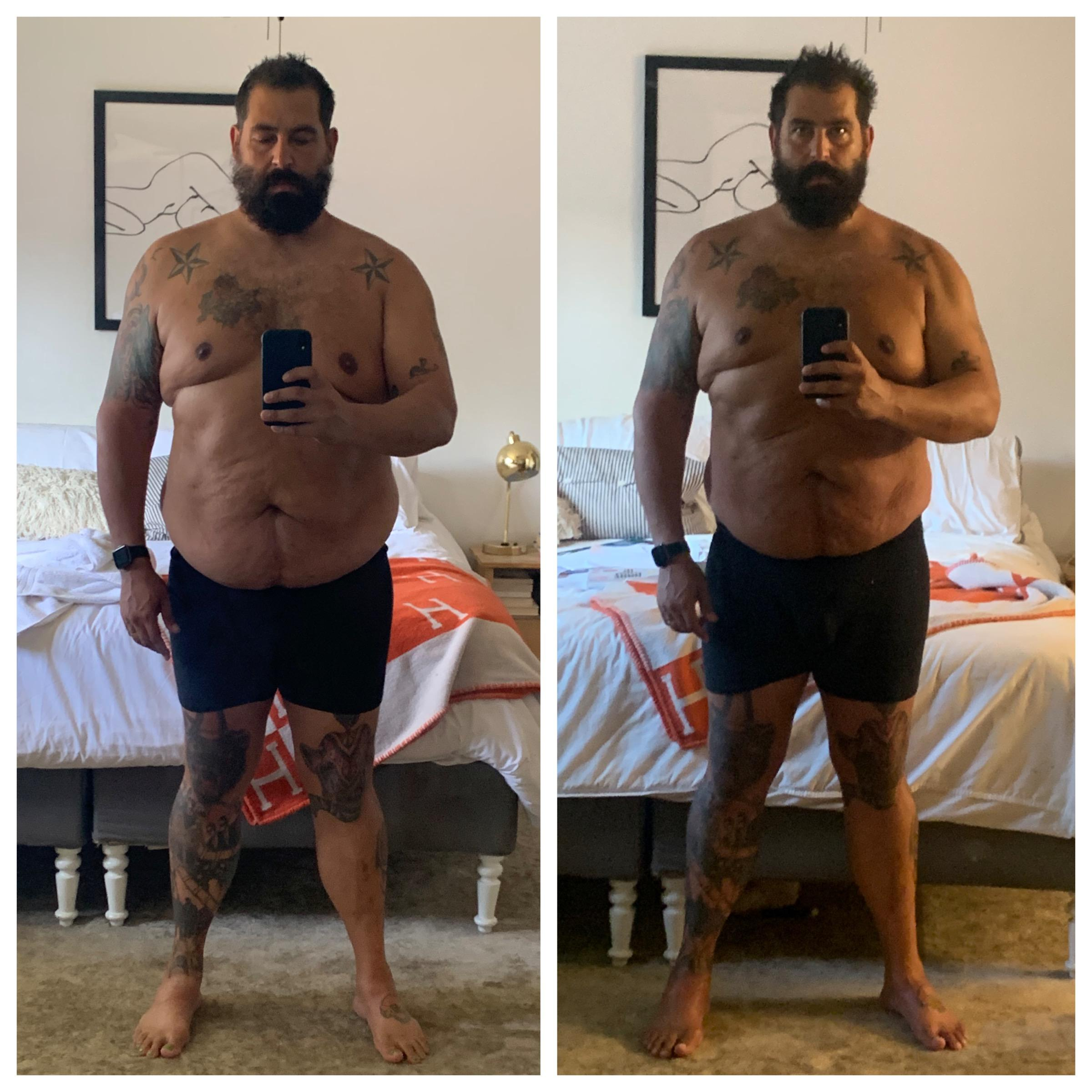 9 lbs Muscle Gain Before and After 6'3 Male 297 lbs to 306 lbs