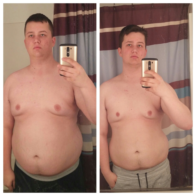 42 lbs Fat Loss Before and After 6 foot Male 270 lbs to 228 lbs