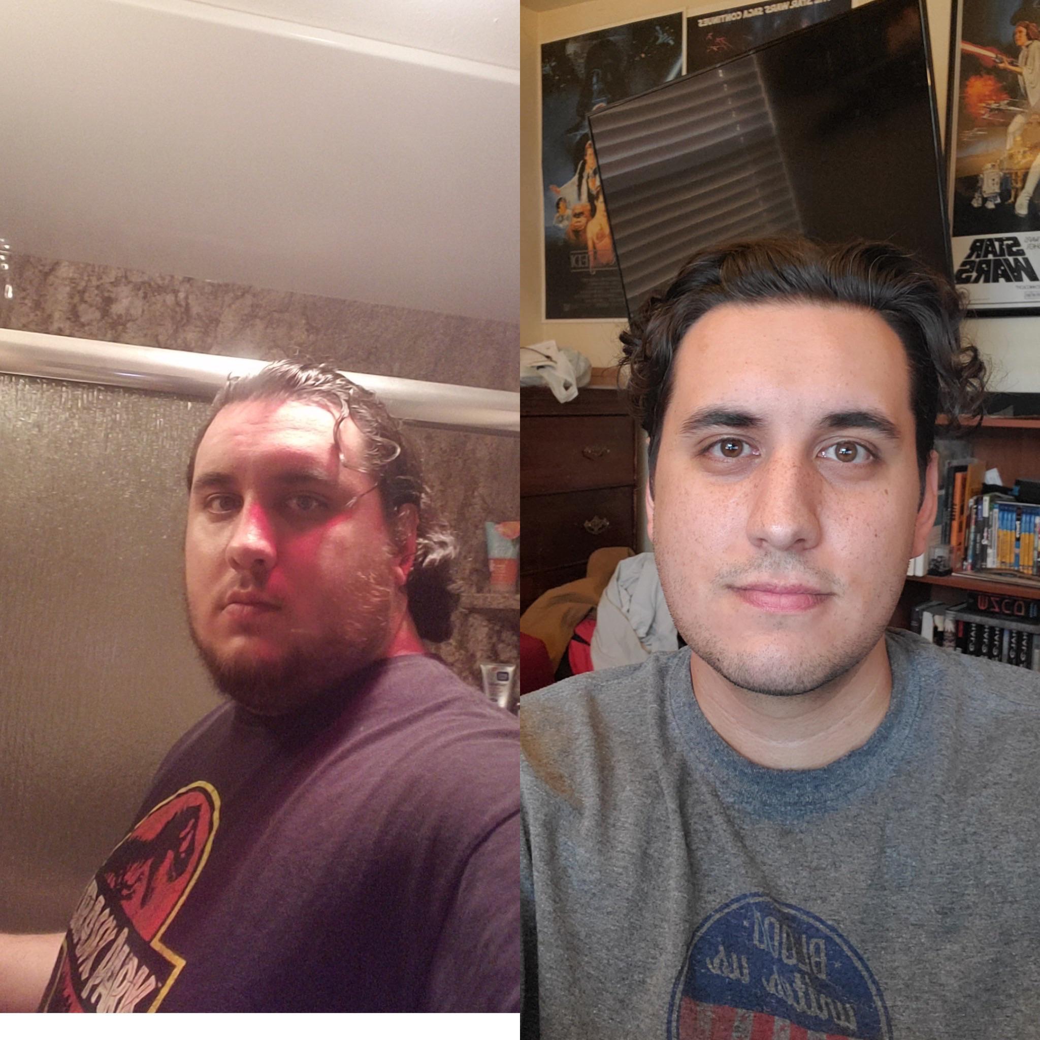 6 foot Male Progress Pics of 124 lbs Fat Loss 349 lbs to 225 lbs
