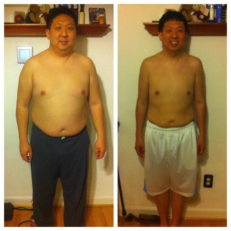 80 lbs Weight Loss 5 feet 10 Male 250 lbs to 170 lbs