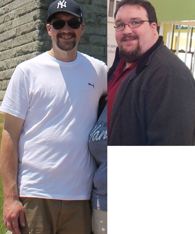 Before and After 191 lbs Weight Loss 6 feet 4 Male 405 lbs to 214 lbs